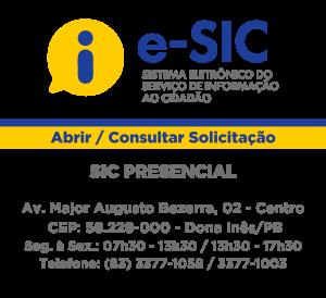 E-SIC - Sistema Eletronico de Informação ao Cidadão